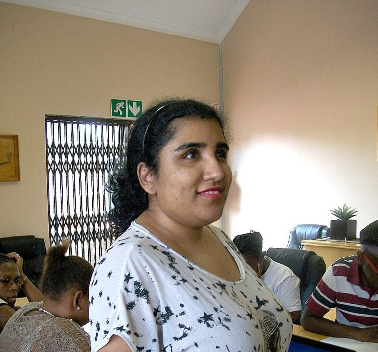 Blind SA's newly-appointed Placement Officer Parishna Ramluckan
